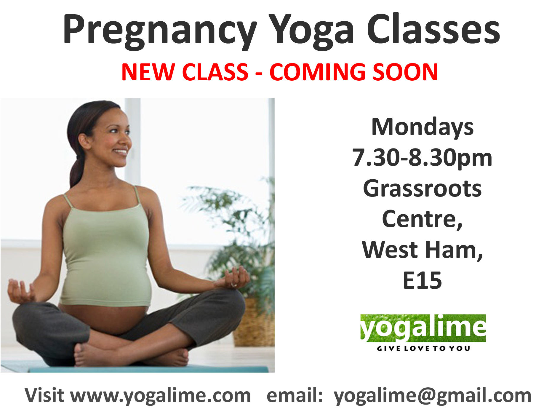 Pregnancy Yoga in Canning Town and Newham
