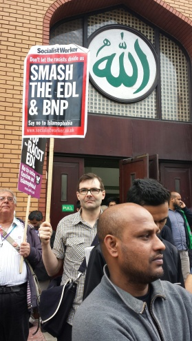 EDL, UAF, counter protest, demonstration, east london, mosque