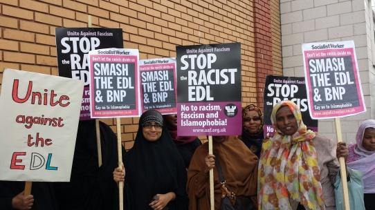EDL, UAF, counter protest, demonstration, east london, mosque