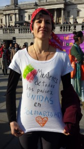LAWRS women solidarity London 2014, yogalime