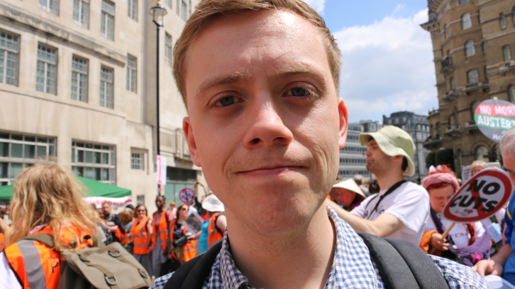 "Owen Jones, features in ""Stop Cuts Against Vulnerable Disabled People"""