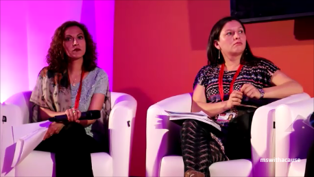 Jineth Bedoya Lima, speaking at Coalica, Global Summit to End SVC, London 2014