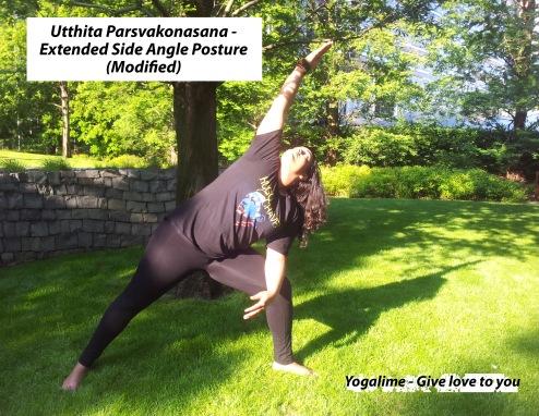 Side angle posture, utthita parsvakonasana at yogalime