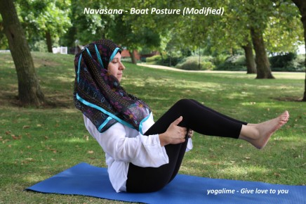 Navasana – Boat Posture (Modified)