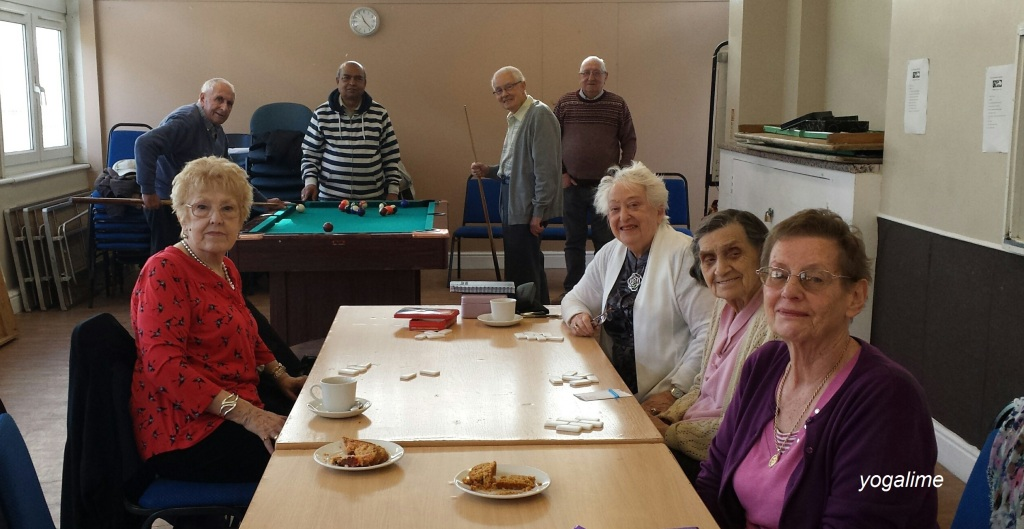 The Young at Heart Group enjoying their weekly games at SELMO on 13.10.14