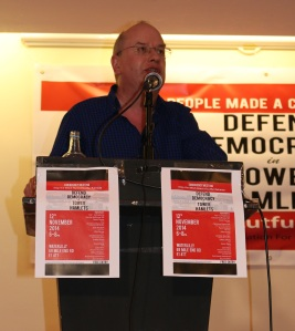 Colin Wilson, East london pride, defend democracy in tower hamlets