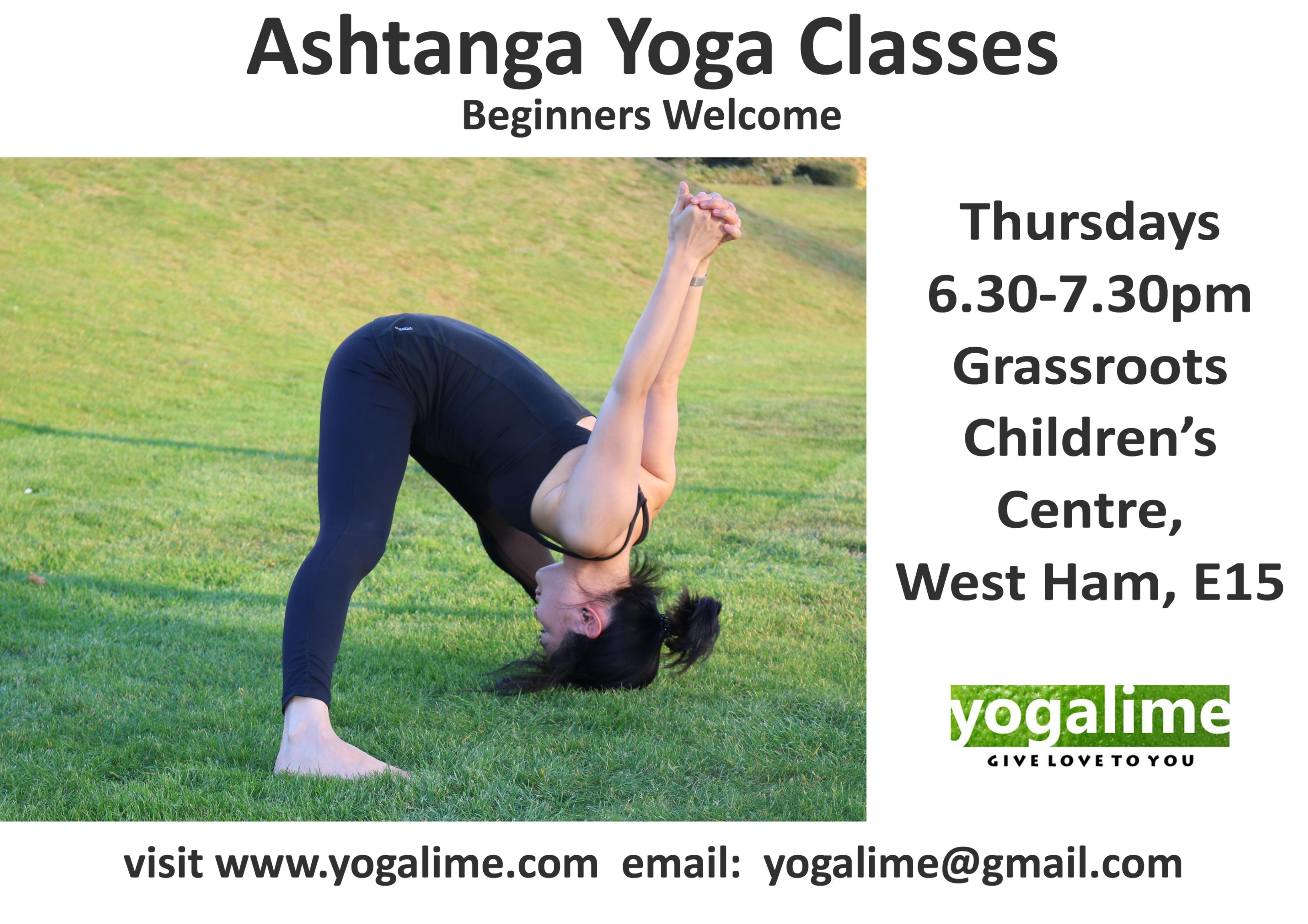 Ashtanga yoga in West Ham, East London, yogalime