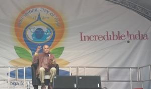 Mr Satish Kumar at Yoga Day 2015