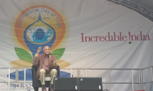 Mr Satish Kumar at Yoga Day 2015