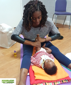 Baby Massage Class in East London at Yogalime